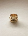 ALL in One Stacked Ring in Gold by THEHEXAD