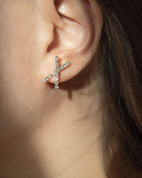 ANTI Ear studs by The Hexad Jewelry