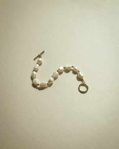 A pretty bracelet crafted using cultured pearls chosen for their soft lustre - The Hexad Jewelry