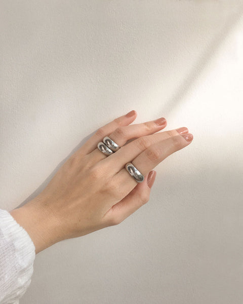 Affirmation Ring in Silver - The Hexad