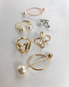 Assorted scarf rings in silver, gold and rose gold - The Hexad