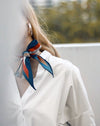 Asymmetrical funky diamond shape neck scarf - The Hexad