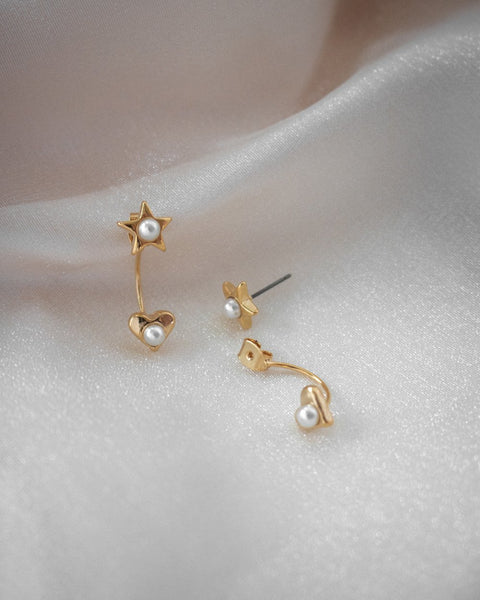 Belle Two-Way earrings in gold by The Hexad Jewellery