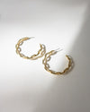 Big statement hoop earrings in gold with chain link design - The Hexad