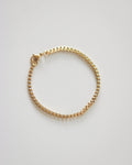 Boxy square link bracelet in gold - The Hexad