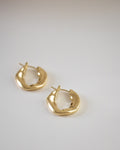 Bronx hammered hoops in gold by The Hexad