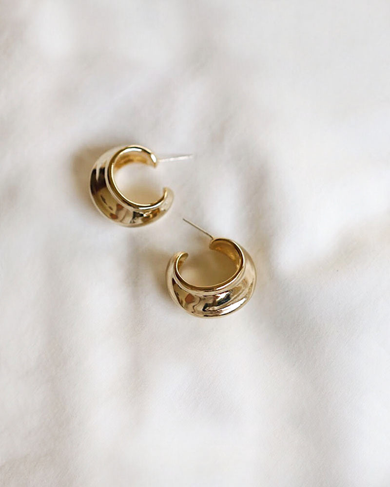 CHARIS Open Hoops in Gold by The Hexad