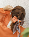 COLOR BLOCK Ponytail Hair Scarf in Moroccan Sands - The Hexad