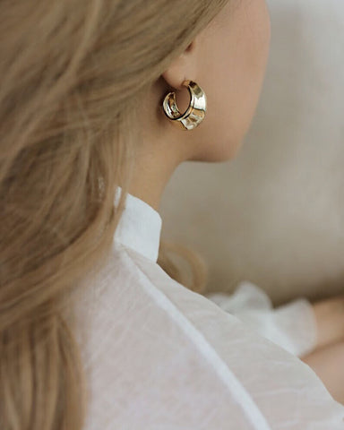 Channel a classy vintage vibe with The Hexad's Charis Hoop Earrings