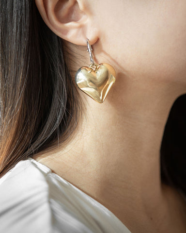 Cheeky and quirky heart shape drop earrings | The Hexad Jewelry