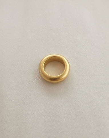 Chunky brushed finish gold plated ring by The Hexad