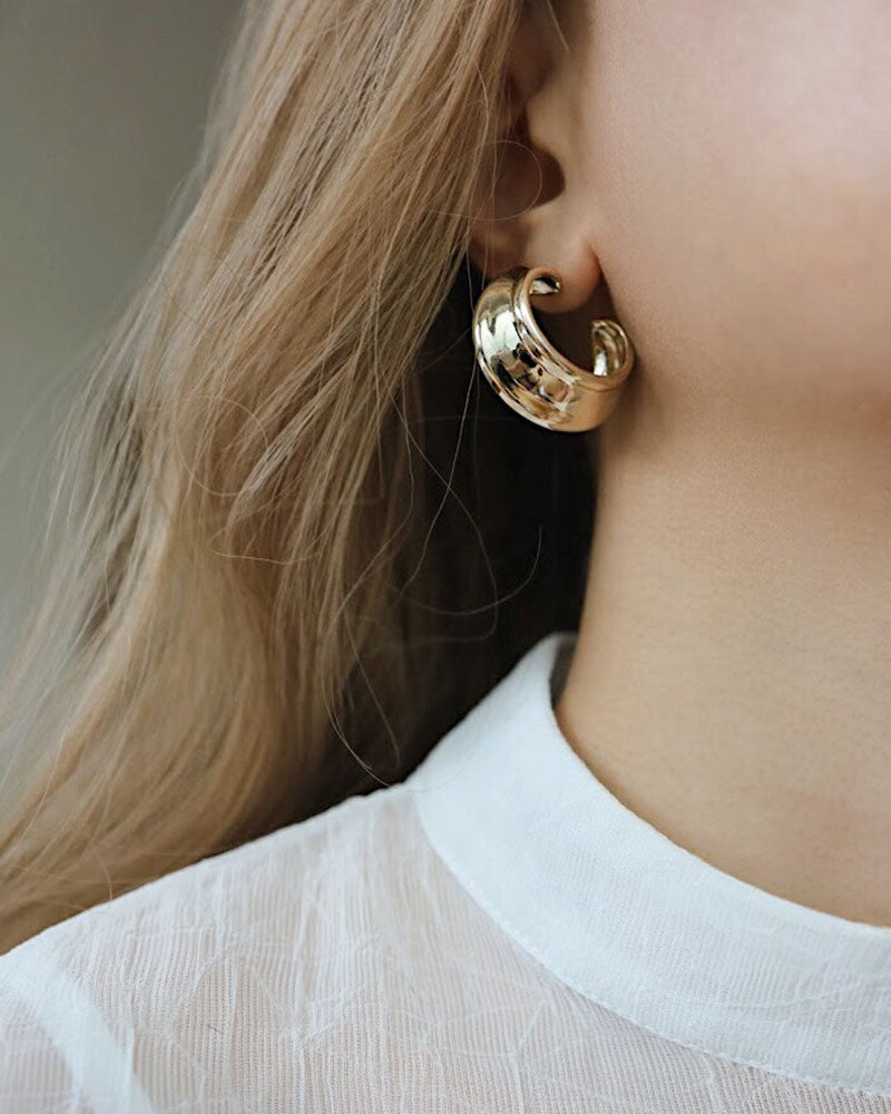 Chunky style earrings designed to make a bold statement - The Hexad Jewelry