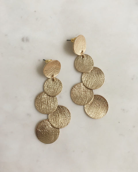 Circle Confetti Earrings in Gold - The Hexad Jewelry