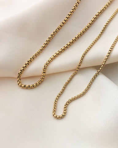 Classic box chain necklace by The Hexad