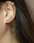 Classy elegant ear climbers with tiny rhinestones - The Hexad Jewelry
