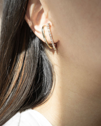 Classy suspender bar earrings - The Hexad Jewelry