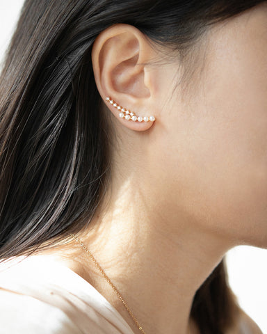 Climber style ear cuffs that require no piercings at all - Gala earrings by The Hexad