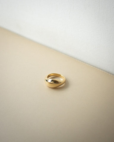 Cocoon ring in gold by The Hexad Jewelry