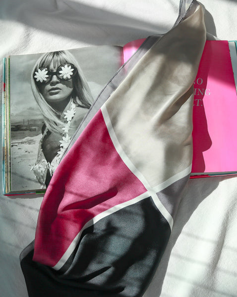 Color block scarf in Titanium Rose - The Hexad Scarves