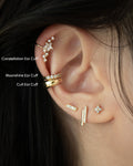 Constellation Ear Cuff stack @thehexad