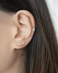 Constellation ear studs and ear cuffs look by The Hexad