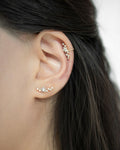 Constellation ear studs with sparkly rhinestones - The Hexad Jewelry