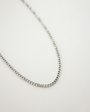 Cuba chain necklace in silver by The Hexad Jewelry