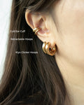 Cult and Retractable ear cuffs with the Kiyo Clicker Hoops @thehexad