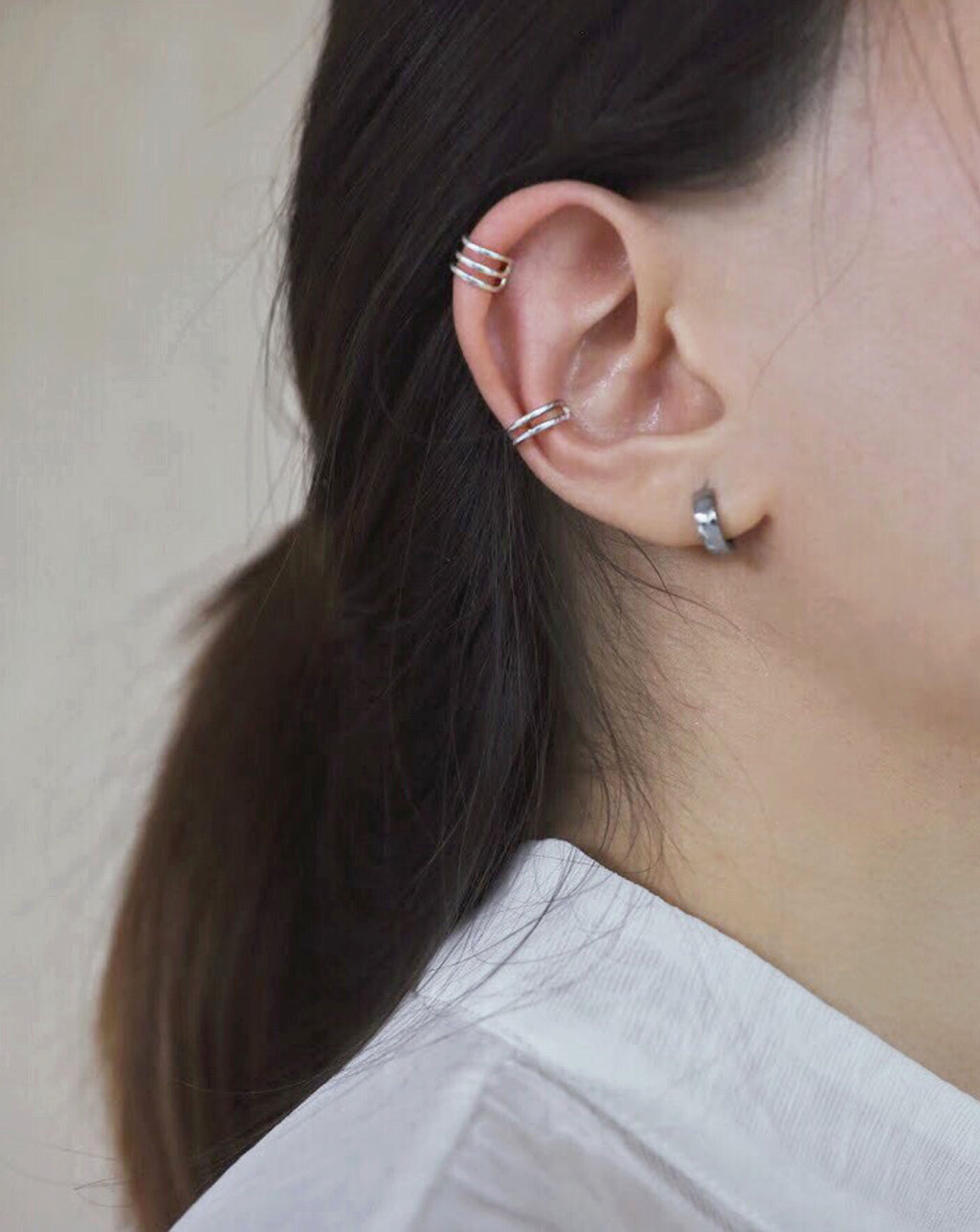 Curated ear with the minimalist latitude ear cuffs @thehexad
