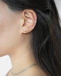 Dainty ear studs featuring a cluster of stars - The Hexad Jewelry