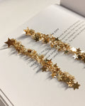 Dangling earrings made of many little stars - Vegas Stardust Earrings by TheHexad