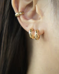 Double layer hoop earrings for multiple ear piercings @Thehexad