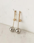 Double pendulum earrings - The Hexad Jewelry