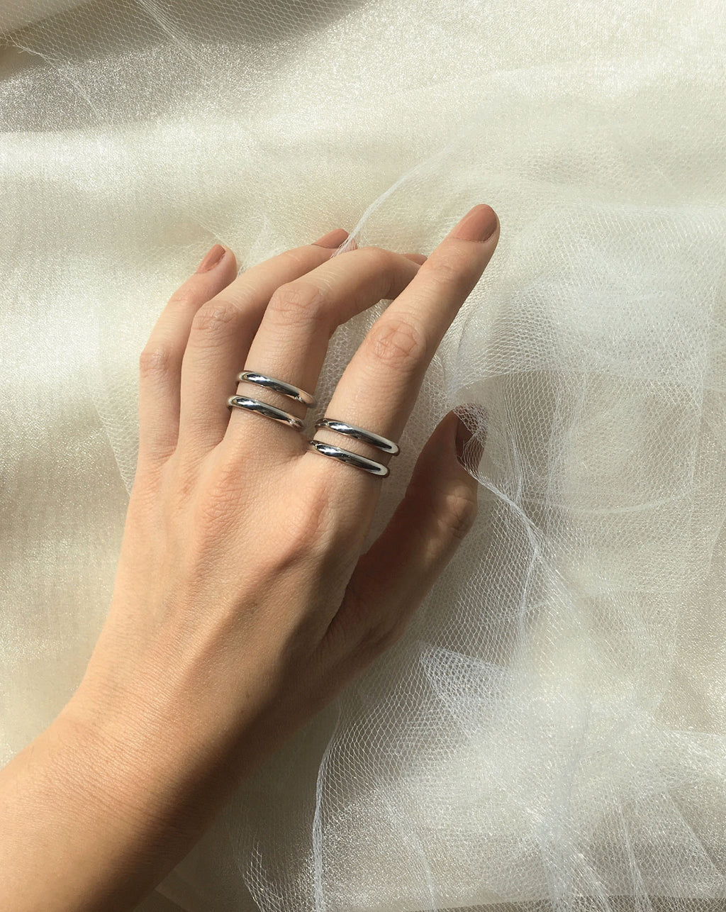 EASY Snake On Ring in Silver - The Hexad Jewelry