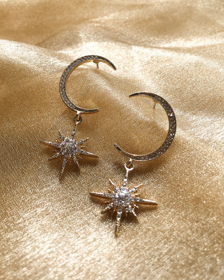 Earrings that resemble the twinkling night sky - The Hexad Jewelry