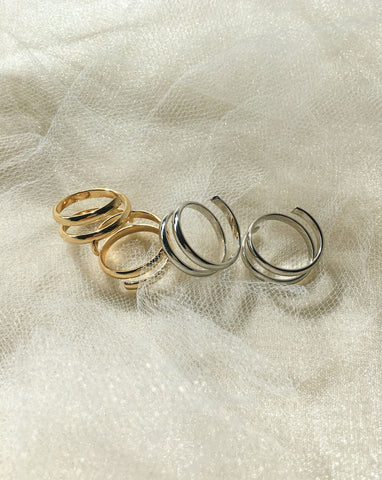 Easy Snake On Ring in Gold and Silver - The Hexad Jewelry