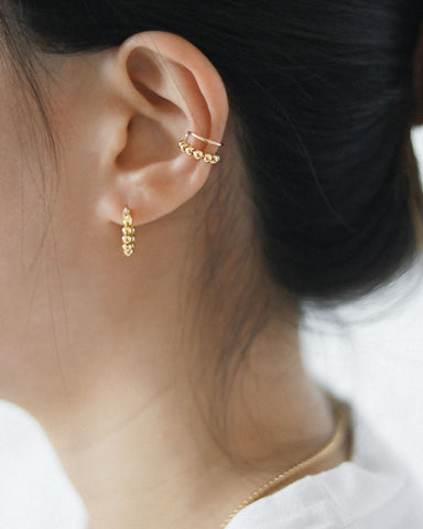Essential beaded hoop earrings for everyday wear - The Hexad