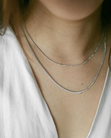 Essential dainty, silver chain necklaces for daily wear @thehexad