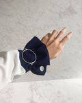 Fabienne Circle Bangle in Silver - THEHEXAD