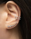 ASTRAEA Double Ear Cuff in Silver