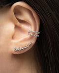 ASTRAEA Double Ear Cuffs in Silver