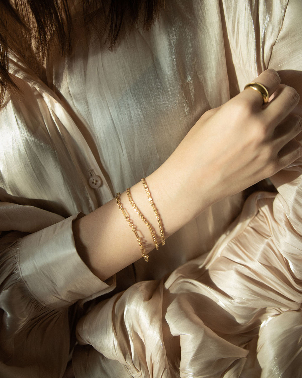Get layering with The Hexad's essential chain bracelets