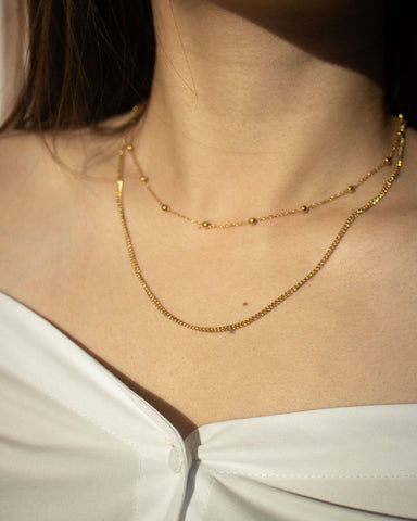 Get stacking with the Whimsical and Basic chain in gold - The Hexad Jewelry