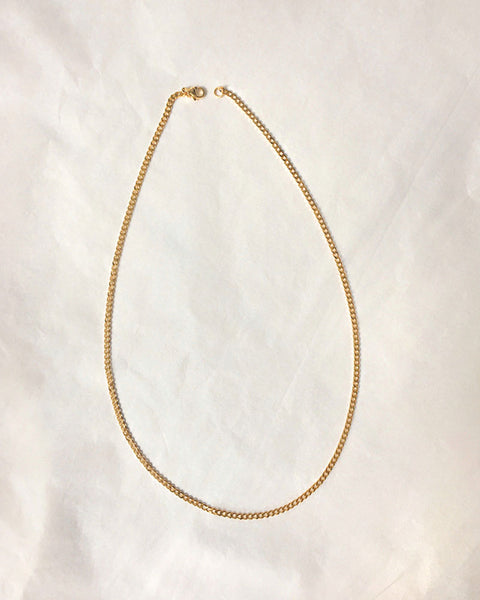 Gold-plated hardware chain in 20 inch length - The Hexad