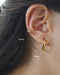 Gold hoops ear stack - no piercings required by The Hexad
