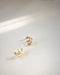 Gold plated baby trio hoop earrings | The Hexad Jewellery