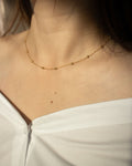 Gold stainless steel choker chain that sits around the collarbones - Whimsical Chain @thehexad