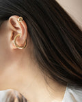 How to layer statement ear cuffs on one ear @thehexad