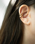 How to wear two ear cuffs on one ear @thehexad