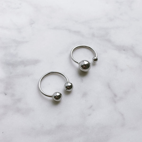 925 sterling silver set of two rings